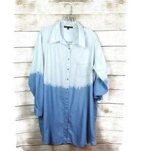 Tops - Always indigo ombre tunic size 3x
